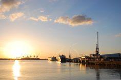 Southampton docks with beautiful sunset by Aurimas Šatas on 500px