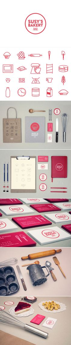 identity / susy's bakery - I really like the clean, minimalist look to this branding