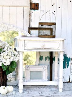Do you have several home accessories you need to paint? Gather them up and paint them at the same time. It's a definite time saver. I have a video of these projects showing how to use white spray paint and sandpaper to renew old home decor.