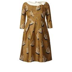 Orla Kiely Spring 20123 - Around The World Print Silk Twill Neck Tie Dress