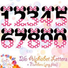 Minnie Mouse Printable Alphabet Digital PNG Letters Minnie