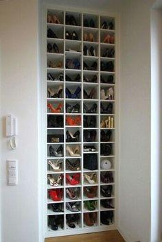 Shoe Storage Bins, Shoe Storage Solutions, Closet Shoe Storage, Shoe Shelves, Small Space Storage, Wardrobe Storage, Diy Storage, Storage Spaces, Garage Storage