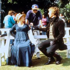 Alan Rickman and Emma Thompson in Sense and Sensibility (behind the scenes) - 1995