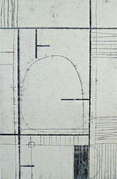 Glovaski Neighborhood #16,  oil transfer drawing,  30x22,  2013