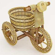 maya decorative wicker tricycle basket - Decorative Wicker Tricycle Basket... by 3d_molier