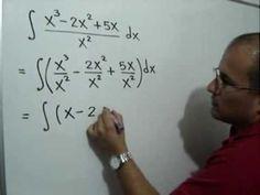 Integral directa de una división: Julio Rios explica cómo integrar de manera directa una función donde hay una división