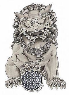 Image result for Foo dog tattoo
