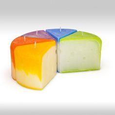Renkli farelere renkli peynirler. /Colorful cheese for coloured mice.