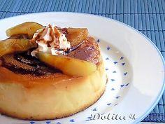 FLAN DE MANZANA Cheesecake, Creme Caramel, Popular Recipes, Sweet Tooth, Dessert Recipes, Mexican Desserts, Good Food, Sweets, Healthy Recipes