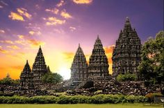 Prambanan temple is a Hindu temple that has an exotic ancient Hindu temple architecture landscape design was built in 9th century during development of Hinduism in Indonesia. Prambanan Hindu temple is located in Klaten, Central Java and become largest temple in Indonesia.