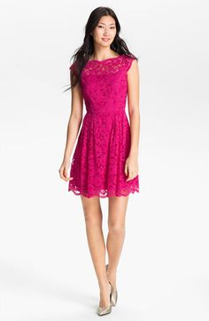 Cynthia Steffe Lace Fit & Flare Dress available at Nordstrom