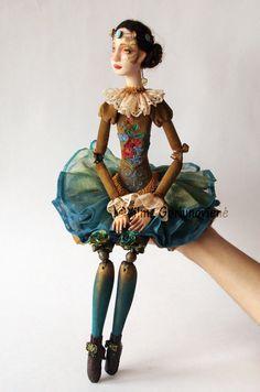 Art doll Margaret OOAK by VilmaDollsHouse on Etsy
