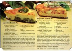 "The Bisquick ""No time to cook"" recipe book"