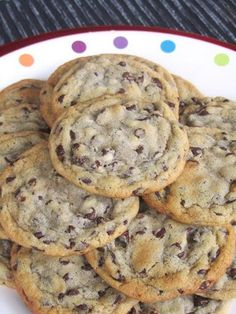 Chewy Chocolate Chip Cookies With All-purpose Flour, Baking Soda, Salt, Unsalted Butter, Dark Brown Sugar, White Sugar, Vanilla Extract, Yolk, Eggs, Semi-sweet Chocolate Morsels