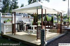 My Garden - Sisustuskuva jäseneltä idahhh - StyleRoom. Outdoor Garden Bar, Backyard Patio, Outdoor Gardens, Outdoor Spaces, Outdoor Living, Outdoor Chairs, Outdoor Decor, Home Id, Backyard Makeover