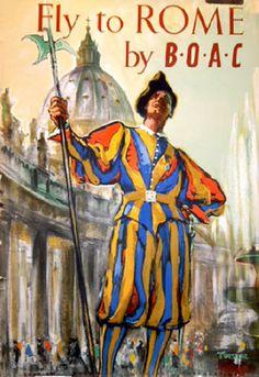 * m. Vintage Italian Posters ~ ROME