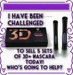 Good morning and Happy Saturday!  I've been challenged to sell 5 of the New 3D+ Mascara today.  Who want to help me out and try this AMAZING new product with our 14-Day money back guarantee?  Order here and thanks in advance! youniquebyrachelle.com