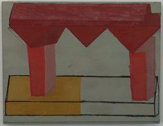 Mario de Brabandere in Main d'oeuvre |  Mario De Brabandere, Kompositie met houten bouwblokken, olievef op paneel, 2002, verzameling Ignace De Vos