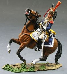 Napoleon's Grande Armee NA118 Cuirassier's Advance - Made by King and Country Military Miniatures and Models. Factory made, hand assembled, painted and boxed in a padded decorative box. Excellent gift for the enthusiast.