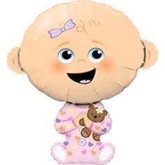 Folieballon Baby girl   ca. 97 cm