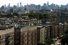 Washington Heights, upper Manhattan, NY, looking south to midtown.