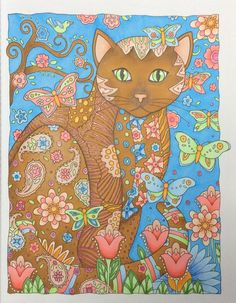 Creative Cats - Marjorie Sarnat - Colored by Heleen Keizer