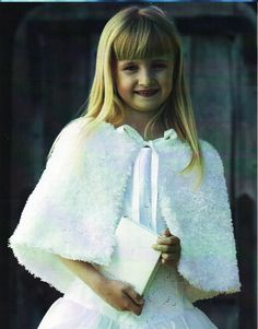 Girls Cape Knitting Pattern Bell Cape Wedding Confirmation Bridesmaids Flower…