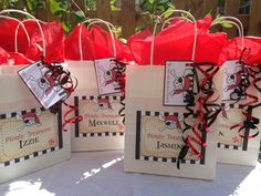Pirate party bags filed with goodies - made and designed by party bags for kids - 07799434226 Crofty75@aol.com to order.