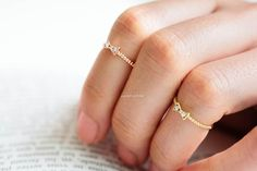 cz ribbon knuckle ring,R058N