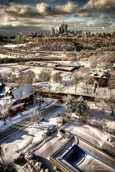 Winter in Toronto, Ontario, Canada