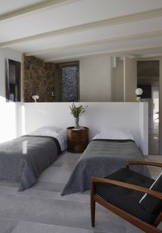 Off Grid Home in Extremadura stable conversion by Ábaton Furniture, House Design, Interior, Home, Home Bedroom, Bedroom Interior, House Interior, Interior Design, Living Room Designs