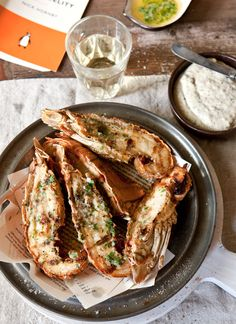 Garlic Butter (Australian) Moreton Bay Bug (Slipper Lobster) Tails with Garlic and Walnut Mayo by What Katie Ate