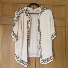 Forever 21 Beaded kimono Gorgeous Kimono from...can you believe it - Forever 21! Perfect condition, worn a few times, beading in tact. From their contemporary line Forever 21 Jackets & Coats