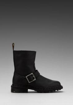 Dr. Martens Meg Biker Ankle Boot in Black