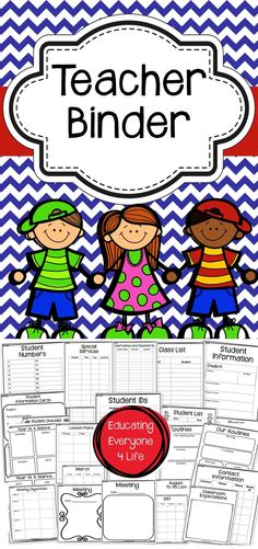 Teacher Binder - This is a fantastic teacher planner to use throughout the school year. Organization is essential in the classroom and this teacher binder is a great organizational tool!