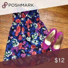 Xhilaration dress and Charlotte Russe heels Multicolored dress ($5) and magenta heels size 6 ($7) Xhilaration Dresses Mini