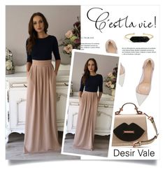 """""""Desir Vale"""" by amra-mak ❤ liked on Polyvore featuring Gianvito Rossi, BaubleBar and DesirVale"""