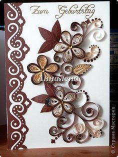Открытка Квиллинг Открытки Бумага Бумажные полосы фото 2