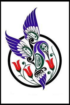 Hill's Native Art is North America's largest northwest Coast Native Art Gallery. Arte Haida, Haida Art, Arte Tribal, Tribal Art, Hummingbird Art, Hummingbird Meaning, Tatoo Art, Tattoo Ink, Arm Tattoo