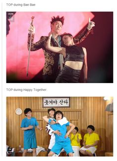 He's so sauve Big Bang Memes, Big Bang Kpop, Bigbang Vip, Daesung, Top Choi Seung Hyun, Funny Kpop Memes, All The Things Meme, 2ne1, Pop Music