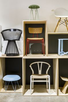 Our second showroom chair wall features many of our favourite designs - is yours up there?!