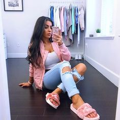 Pink vibes bomber & jeans from @fashionnova DC // SAYEH #novababe #fashionnova