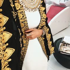 Hijab Modest Wear   Traditional & Chic   Gold & Black
