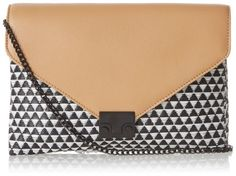 Loeffler Randall Accessories LCKCLTCH-WRN Cross-Body Bag Black/Natural �