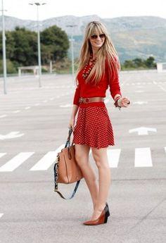 Zara  Skirts, Tommy Hilfiger  Sweater and Aldo  Heels / Wedges