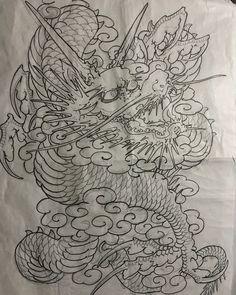 Design for back piece Tattooing soon. #bigcatcid #용타투 #용문신 #dragontattoo #bigatcid #gloryofpain #글로리오브페인 #청주타투 #청주시내타투샵 #홍대타투