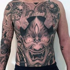 Japanese Dragon Male Stomach Tattoos