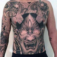 Japanese Dragon Male Stomach Tattoos