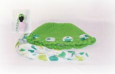 St Patrick's Green Scarf Hat Green White Hearts Scarf St Patty's Crochet Beanie Cap St. Patrick's Day Fashion SP#1 ICreateAndCollect Etsy by ICreateAndCollect on Etsy