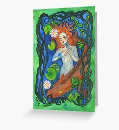 Beastiary Rusalka  Greeting Card Mermaid Artwork, Mermaid Quotes, Mermaid Illustration, Watercolor Mermaid, Rusalka, Mermaid Tale, Surface Pattern, Fantasy Art, Fairy Tales